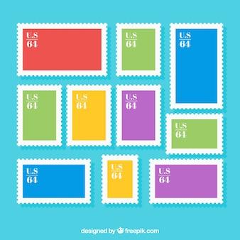 Colección de marcos de sellos