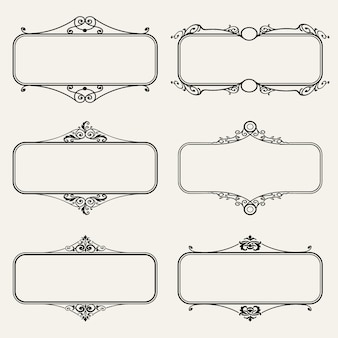 Colección de marcos ornamentales