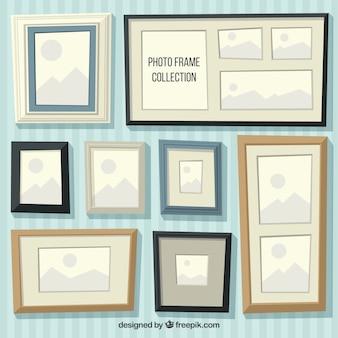 Colección de marcos planos