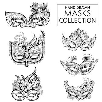 Colección de máscaras elegantes