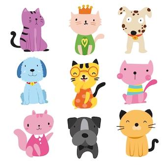 Colección de mascotas monas