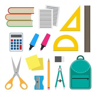 Colección de material escolar