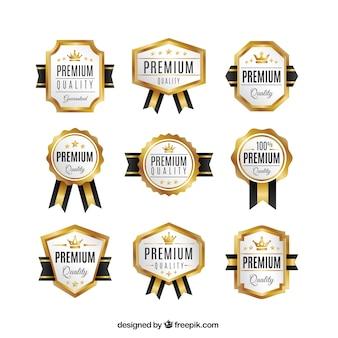 colección de medallas de oro realista