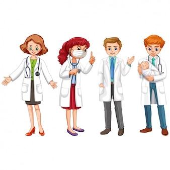 Colección de médicos a color