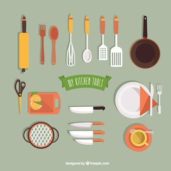 Colección de mis herramientas de cocina