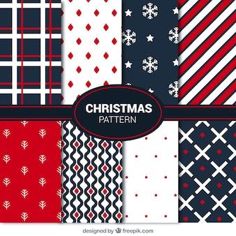 Colección de modernos patrones abstractos navideños