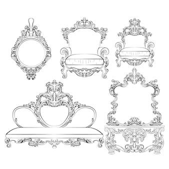 Colección de  muebles elegantes