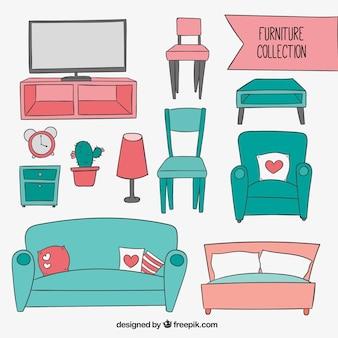 Colección de muebles incompleto