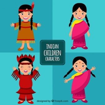 Colección de niñas indias