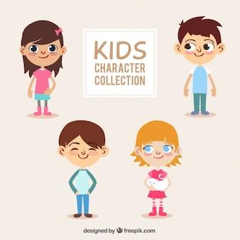 Colección de niños con ojos adorables