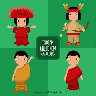 Colección de niños indios