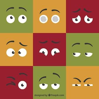 Colección de ojos de dibujos animados
