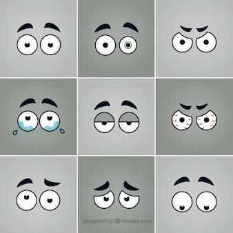Colección de ojos de dibujos