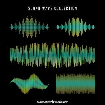Colección de ondas de sonido oscuras