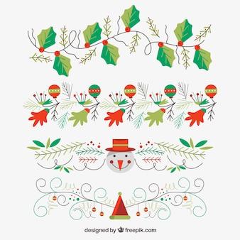 Colección de ornamentos de navidad