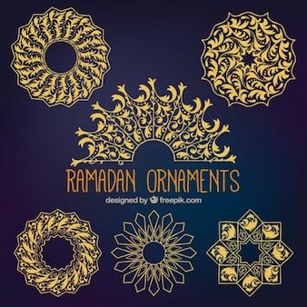 Colección de ornamentos de ramadan