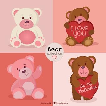 Colección de osos amorosos