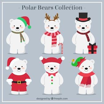 Colección de osos polares navideños