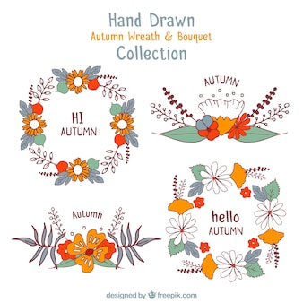 Colección de otoño dibujada a mano