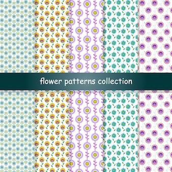 Colección de patrones de flores