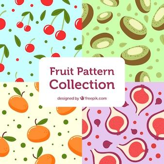 Colección de patrones de fruta fantásticos
