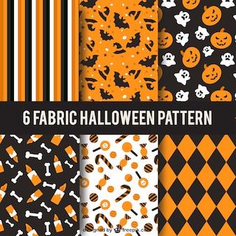 Colección de patrones de halloween