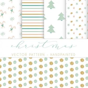 Colección de patrones de navidad