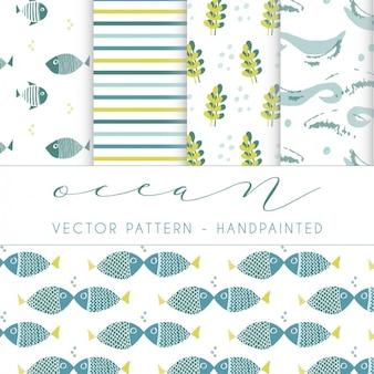 Colección de patrones de océano