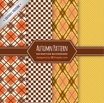 Colección de patrones de otoñales