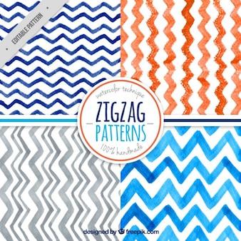 Colección de patrones de zig-zag
