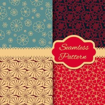 Colección de patrones florales