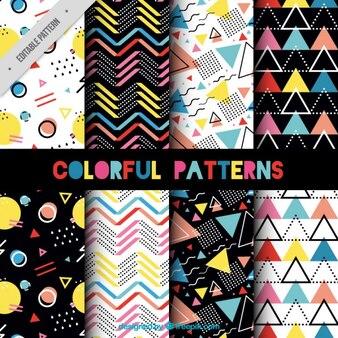 Colección de patrones memphis