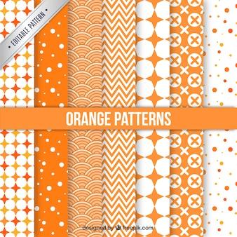 Colección de patrones naranjas