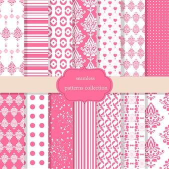Colección de patrones rosas