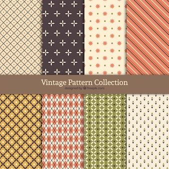 Colección de patrones vintage con diferentes formas