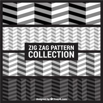 Colección de patrones zig-zag
