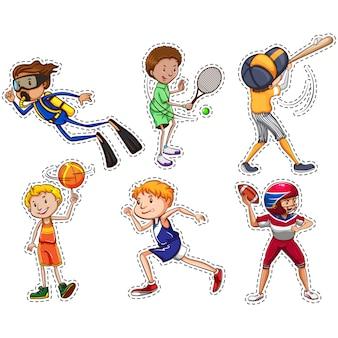 Colección de pegatinas de deportes