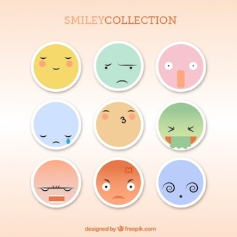 Colección de pegatinas de emoticonos