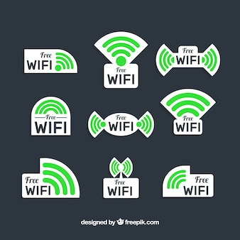 Colección de pegatinas de wifi