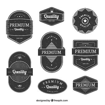 Colección de pegatinas planas premium