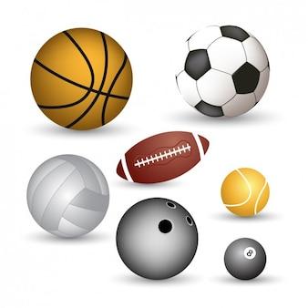 Colección de pelotas deportivas