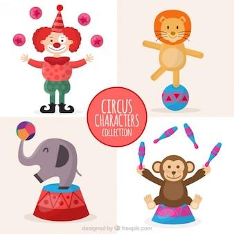 Colección de personajes adorables de circo