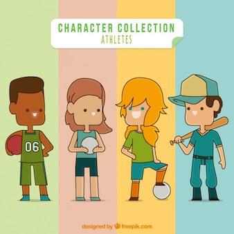 Colección de personajes atletas
