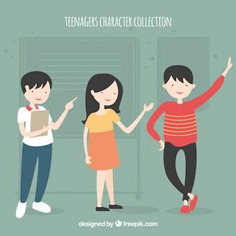 Colección de personajes de adolescentes