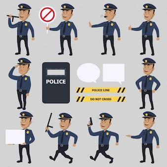 Colección de personajes de policias