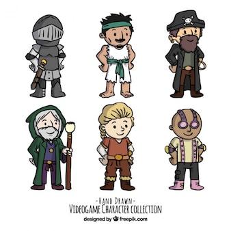 Colección de personajes de vídeo juego