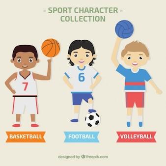 Colección de personajes deportivos masculinos