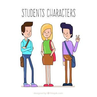 Colección de personajes estudiantes