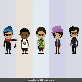 Colección de personajes humanos