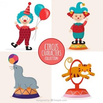 Colección de personajes lindos de circo